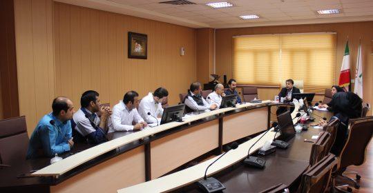 جلسه بهداشت محیط در بیمارستان میلاد شهریار