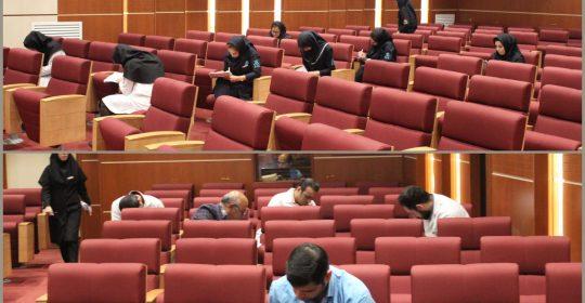 برگزاری آزمون اعتباربخشی و بهبود کیفیت بیمارستان میلاد شهریار