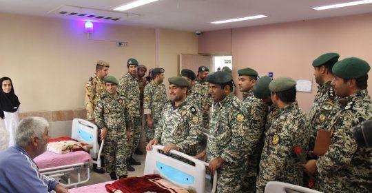بازدید تیپ ۲۲۳ تکاور ارتش از بیمارستان میلاد شهریار
