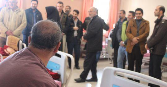 دیدار کارکنان طیف سایپا از بیمارستان میلاد شهریار