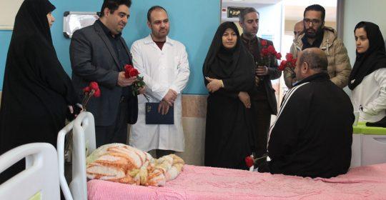 عیادت جمعی از روسای دانشکده فنی استان البرز از جانبازان بیمارستان میلاد