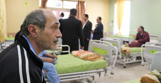 حضور مدیر عامل بانک مسکن و هیات همراه استان البرز در بیمارستان میلاد شهریار