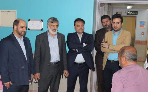 عیادت مسئولین بنیاد شهید از جانبازان بیمارستان میلاد شهریار
