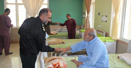 دیدار صمیمانه رئیس پلیس آگاهی اسلامشهر از آسایشگاه جانبازان بیمارستان میلاد شهریار