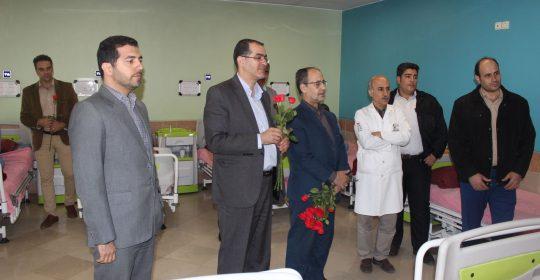 دیدار کارکنان دانشگاه آزاد شهرقدس با جانبازان بیمارستان میلاد شهریار