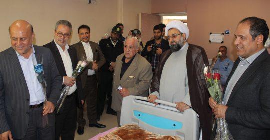 ملاقات مسئولین استانی شهریار از جانبازان بیمارستان میلاد