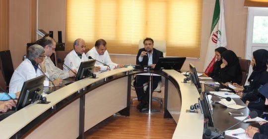 بررسی معیارهای سه گانه کاری در جلسه بیمارستان میلاد شهریار