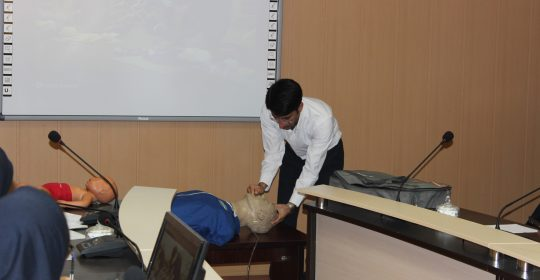 برگزاری آموزش احیای ریوی قلبی در بیمارستان میلاد شهریار