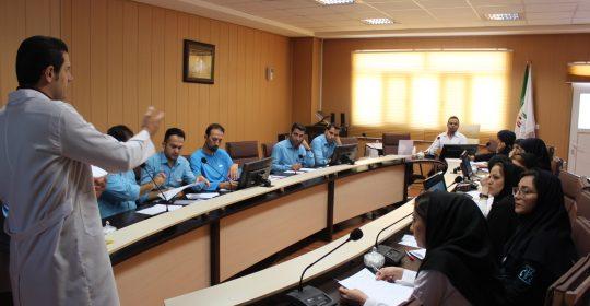 کلاس آموزشی ارگونومی در محیط کار ویژه کارکنان بیمارستان میلاد شهریار