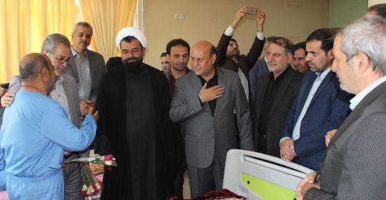 حضور مسئولین سیاسی و فرهنگی در بیمارستان میلاد شهریار