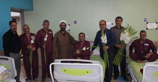 حضور بسیجیان سایپا در بیمارستان میلاد شهریار