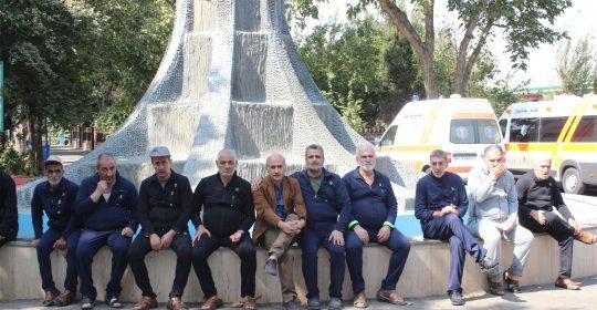 اعزام جانبازان و ایثارگران بیمارستان میلاد شهریار به اردوی فرهنگی و ورزشی