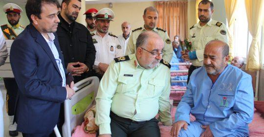 حضور فرماندهی غرب استان تهران در بیمارستان میلاد شهریار