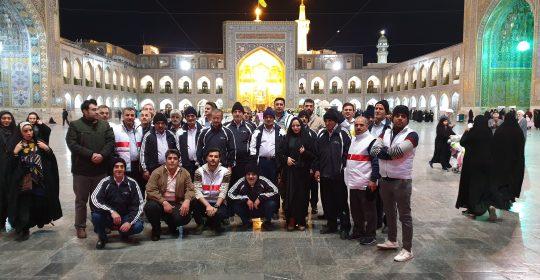 اعزام جانبازان بیمارستان میلاد شهریار به مشهد مقدس