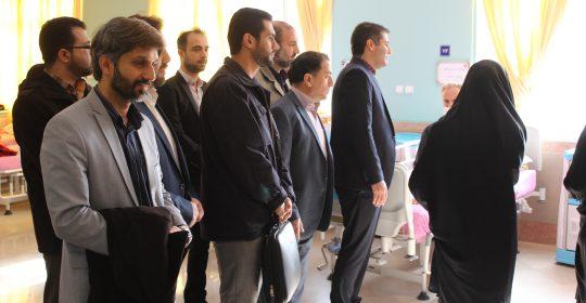 فرهنگیان بسیجی شهریار از جانبازان بیمارستان میلاد بازدید نمودند