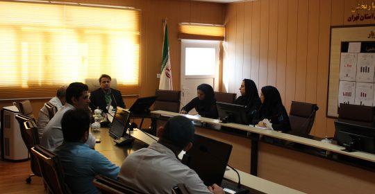 برگزاری جلسه ستاد پیشگیری از شیوع آنفولانزا در بیمارستان میلاد شهریار