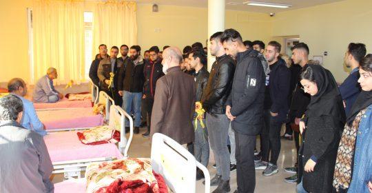 حضور دانشجویان بر بالین جانیازان بیمارستان میلاد شهریار