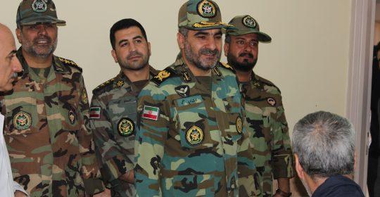 دیدار اعضای ارتش با جانبازان بیمارستان میلاد شهریار به مناسبت ۲۲ بهمن ۹۸