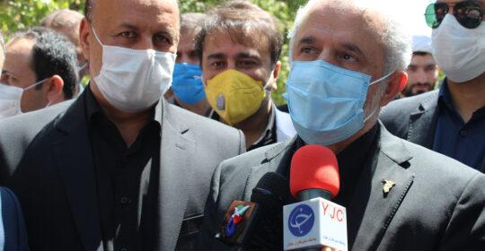 حضور رئیس بنیاد شهید در بیمارستان میلاد شهریار