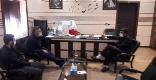 دیدار ریاست بیمارستان میلاد شهریار با سرپرست جمعیت هلال احمر استان تهران