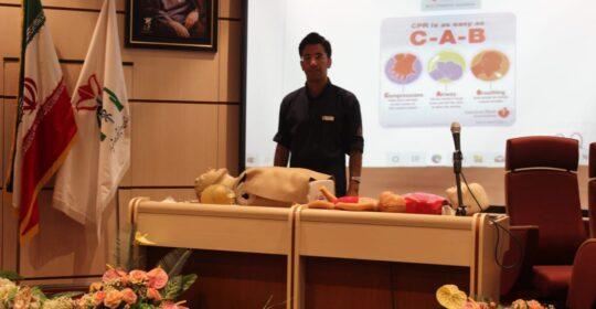 آموزش پایه احیای ریوی قلبی ویژه کارکنان بیمارستان میلادشهریار