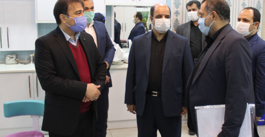 حضور آقای عابدی رئیس ارزیابی عملکرد بنیاد شهید در بیمارستان میلاد شهریار